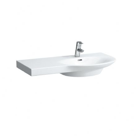 816701 - Laufen Palace 900mm x 460mm Washbasin (Left Shelf) - 8.1670.1